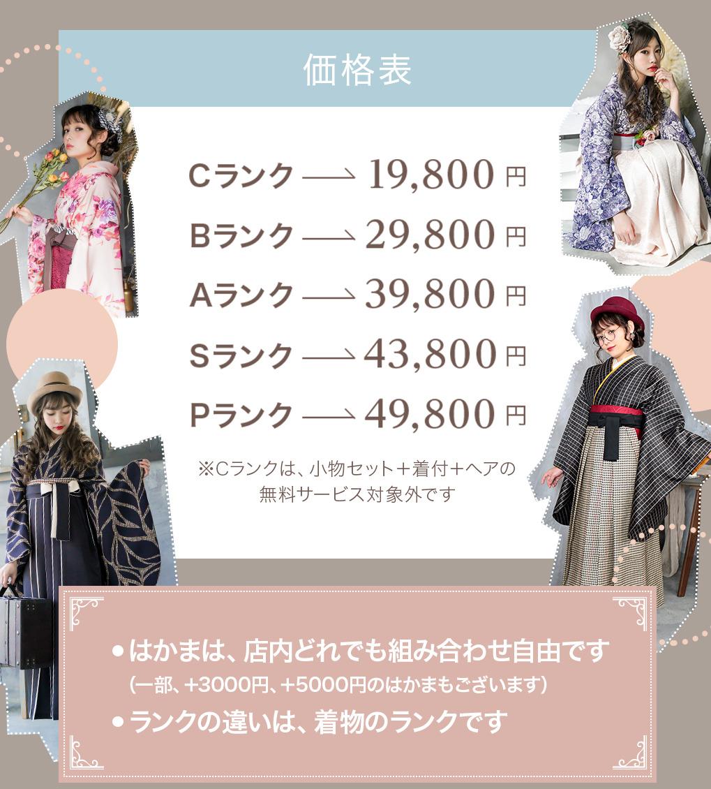 全部コミコミプラン料金 19800円~49800円